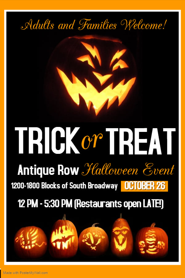 Antique Row Trick or Treat Poster